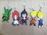 Wholesale Raditz Action Figure - Fashion Dragon Ball Z action figure Goku   Vegeta   Raditz   Cell   Super Saiya keychains Dragonball toys Key Chains free shipping