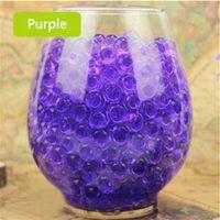 Wholesale Vase Pearls - Wholesale- HOT 1000pcs Purple Water Plant Flower Jelly Crystal Soil Mud Water Pearls Gel Beads Balls Beads Decoration Vase DN639-4