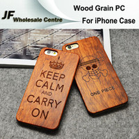 Wholesale Tribal Pc Case - Retro For iPhone 5 5S 6 6S Plus Cases Wood Grain Cell Phones Covers Cartoon Tribal Totem Skull Back Skin Wooden Hard PC Protective Shell