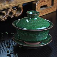 conjunto chinês do chá do fu do kung venda por atacado-Chegada nova conjuntos de chá de café ice crack bule de cerâmica gaiwan chá xícara de chá chinês kung fu conjuntos de chá