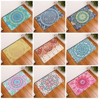 Wholesale Pattern Bath Rugs - Flannel Bath Mats Non Slip For Home Bathroom Articles Originality Geometry Pattern Footcloth Water Uptake 3D Rug 9 8xrg C