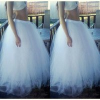 Wholesale Cheap Skirts For Women - 2015 Floor Length Long Skirts Hot Selling Puffy Tulle Custom Made Tutu Skirts for Gilrs Fashion Women Clothing Floor Length Cheap