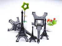 Wholesale eiffel tower metal model - 2016 New black Paris Eiffel Tower souvenirs Model Metal crafts for wedding centerpiece Home table centerpiece Photo Props supply