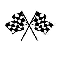 Wholesale car die cuts for sale - Group buy Vinyl Decals Car Stickers Glass Stickers Scratches Stickers Wall Die Cut Bumper Accessories Jdm Checkered Flag Pattern