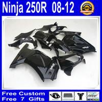 Wholesale Kawasaki 12 - Black Fairing kit for KAWASAKI Ninja 250R EX 250 2008 2009 2010 2011 2012 EX250 08 09 10 11 12 Free windscreen