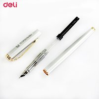 Wholesale deli supplies online - Deli Metal Fountain Pen School Office Supplies Stationery Elegant Pens for Writing School High Quality Ink Fountain Pen
