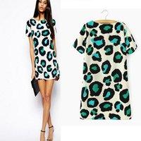 Wholesale Wholesale Leopard Bodycon Dresses - Drop Shipping! 2016 S - XXL fashion Women Sexy Leopard Summer Casual Dress Party Bodycon Slim Brand Mini Dresses SL8283