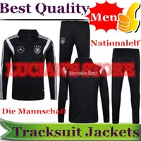 Wholesale mercedes s - 2016 Top Quality Classical Germany Soccer Jacket Tracksuits Chandal Germany Neuer Tracksuit Training Suits Jogging Skinny Mercedes Benz