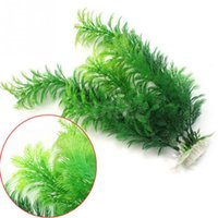 Wholesale underwater fishing - Plastic Underwater Grass Plant 30cm Fish Tank Aquarium Decoration Green Artificial Aquarium Plants