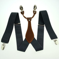 Wholesale-Men's Suspenders Bracelets pour femmes Unisex Elasticity réglable en métal Clip-on Solid Grey BD608