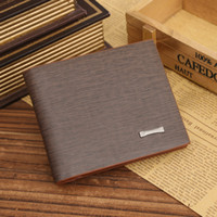 Wholesale Leather Business Card Wallet Price - Hot sale brand genuine mans wallets fashion leisure square cross section Bifold Purse wallet for men factory price free shipping