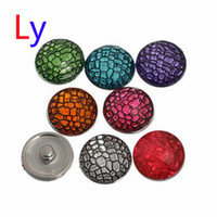Wholesale European American Fashion Ring - Noosa bracelet snap Jewelry Button For Bracelet Necklace Fashion DIY Multicolor hybrid Jewelry Crystal Snaps serpentine buttons Free Shippin