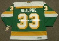 Commercio all'ingrosso personalizzato Throwback Mens DON BEAUPRE Minnesota North Stars 1985 CCM Vintage Throwback Cheap Retro Hockey Jersey