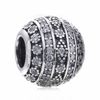 Wholesale bracelets silver glitter for sale - Group buy New Authentic Sterling Silver Jewelry Glittering Shapes Charm Clear Crystal Beads Fit Brand Charms Bracelet Diy Jewelry Making