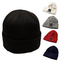 Wholesale Ny Black Hip Hop Cap - Adult Men Hip Hop Caps NY Embroidery Knitting Cap Women Casual Beanie Hats Fashion Accessories Can Choose Color Free Shipping
