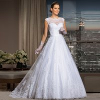 casablanca news - News vestido de noiva Cheap Bohemian Lace Wedding Dresses See Through Back Vintage Wedding Dress Robe de Mariage Casamento