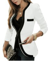 Wholesale Career Jackets - 2015 New Fashion Women Office Ladies OL Career Slim Fit Cardigan Coat Jacket One Button Casual Long Sleeve Suit S M L XL FG1511