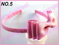 Wholesale Big Pink Hair Bow Headband - free shipping 2015 new 4.5'' boutique Headband 30pcs Preppy Girl Hair Accessories, Big Girl Headband Toddler Bow Headband