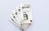 iphone sim pin venda por atacado-Frete grátis 100 pçs / lote Noosy Nano Cartão SIM Micro Cartão SIM para Padrão Adaptador Adaptador Converter Set para iPhone 6/5 / 4S / 4 com Eject Pin chave