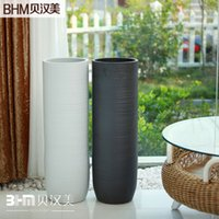ceramics floor vase white 60cm jingdezhen ceramic vase modern and stylish hotel club floor large flower