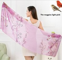 Wholesale Beach Towels Pink Black - The new silk scarves Beach towels is prevented bask in shawls Printed chiffon scarves free shipping HS004