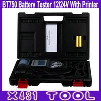 Wholesale Tester Printer - High Quality BT750 Battery Tester 12 24V Pulse Tech Automotive Battery Analyzer with Printer System Tester