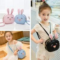 Wholesale wholesale little girls shoulder bag - 5 Colors Kid Rabbit Backpack Cute Style Kids Girl Backpacks Children's Bags Stylish Children Christmas Gift For Little Kids CCA8086 10pcs