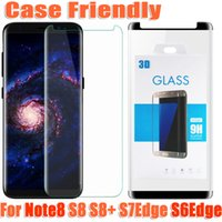 Wholesale Version Galaxy Note - For samsung galaxy note8 note 8 S8 plus S7edge S6Edge case friendly 3d curved tempered glass Case Version phone screen protector