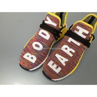 Wholesale Real Hot Human - Hottest NMD Human Race Pharrell Williams Rainbow Multicolor Man Running Shoes Sneakers Sports Shoes Sneakers Real Boost With Box