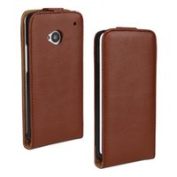 Wholesale Leather Case One M7 - For HTC One M7 Leather Case Texture Genuine leather case Cover