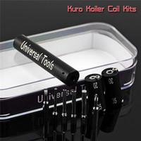 ingrosso strumento kuro koiler-Kuro Koiler Universal Tools 6 in 1 Kit Coil Jig Coiler Avvolgimento Bobina Builder Riscaldamento Wire Tool 7 Colori Per DIY RDA DHL
