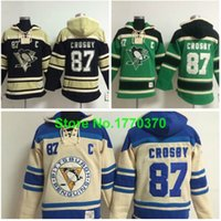 Ice Hockey outlet winter jackets - Factory Outlet Pittsburgh Penguins Hockey Jersey Sidney Crosby Pullover Hooded Sweatshirt Sport Jersey Winter Jacket Size M XL
