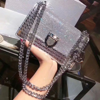 Wholesale party hard cover - women classic lady bag patent leather Rama chain shoulder bags luxury brands crossbody bag Diamond evening party bags handbags new