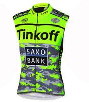 Wholesale Bank Bike Jersey - Wholesale-2015 saxo bank tinkoff cycling jersey Bike vest Cycling Sleeveless ropa ciclismo cycling clothing mtb