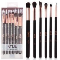 Wholesale Goat Eyes - HOT new Kylie Makeup Eye Brush Set 6 pieces Makeup Tools DHL Free shipping+GIFT