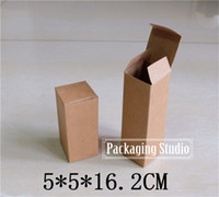 Wholesale Bottle Torch - Wholesale- Free Shipping Brown Party Gift Cardboard Box Perfume Bottle Torch Package Kraft Paper Boxes 5*5*16.2cm