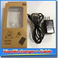 Wholesale Cable M1 - 5V 1A USB Travel AC Adapter US Plug Wall Home Charger + cable+ packing for MI4 MI3 MI2 MI2S MI2A Mi1S M1 Hongmii