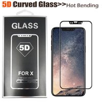 Wholesale Matte White Screen - For iPhone X clear, white, black 5D Curved Full Cover Tempered Glass Phone Screen Protector for iPhone X With Retail Package