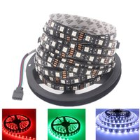 100M LED Strip 5050 Negro PCB IP65 Waterproof IP20 DC12V Flexible LED Light 60 LED / M RGB 5050 LED Strip Azul Verde Rojo