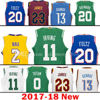 Wholesale 11 Ball - 2017-18 New 11 Kyrie Irving 2 Lonzo Ball 20 Markelle Fultz Jersey 23 LeBron James 13 Paul George Gordon Hayward Joel Embiid Jerseys good