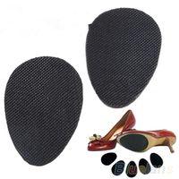 ayakkabı tek koruyucusu toptan satış-2 Pairs Kaymaz Ayakkabı Topuk Sole Kavrama Koruyucu Pedleri Kaymaz Yastık Yapışkan Ekler Kadın Aksesuarları için 08HU