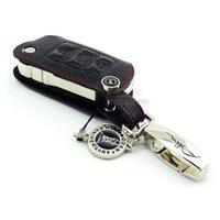 Wholesale Gti Key - Genuine Leather Car Key fob case for Volkswagen Eos Touran Jetta Beetle GTI Passat Golf4 Tiguan POLO Scirocco Multivan Caravelle