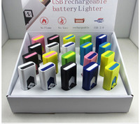 Wholesale Electronic Cigarettes Dropshipping - Cigarette Lighters Portable USB Electronic Rechargeable Battery Cigarette Flameless Lighter Wind Proof do dropshipping
