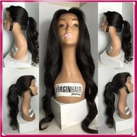 Wholesale Straight Long Burgundy Human Wig - High End 100% Remy Human Hair Customized Color 100% Raw Black Women Brazilian Hair Full Lace Wig