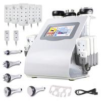 Wholesale cavitation lipolaser - 2017 Ultrasonic Liposuction Cavitation RF Lipo Laser Slimming Machine With 6pcs Lipolaser Pads Ultrasound Vacuum RF For Weight Loss Machine