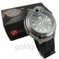 Wholesale Novelty Watches For Women - New Arrival Luxury Military Lighter Watch Novelty For Man Women Quartz Sports Refillable Butane Gas Cigarette Cigar Watches with diamond