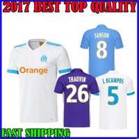 Wholesale Cotton Feet - 2017 Olympique de Marseille jersey soccer L.OCAMPOS 17 18 home PAYET CLINTON Marseille away 3rd CABELLA L.GUSTAVO GERMAIN maillot de foot