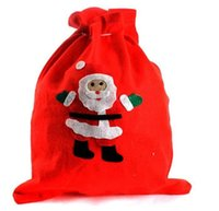 Wholesale xl gift bags resale online - Large Canvas christmas stockings Monogrammable Santa Claus Drawstring RED Bag Monogramable Christmas Gifts Sack Bags candy gift bags CB009