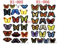 dekorative wandkunst schmetterlinge großhandel-1900pcs (= 100sets) geben Verschiffen PVC 3D Schmetterlingswandaufkleberausgangskunst-Wand-Dekor-Schlafzimmer-dekorative Kinderzimmer-Wand-Aufkleber frei
