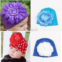 Wholesale Cheap Flower Girl Hats - Cheap Factory Price! Infant Kids Baby Winter Hat Photography Props 3D Flower Hats Cap Beanie NEW